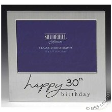 Happy 30th Birthday 5 x 3 photo Frame by Shudehill giftware