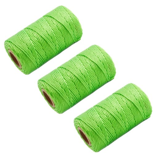 3 X Green 70M Builders Building Brick Laying Measuring Masonry Rope String Line