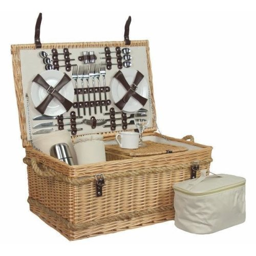 Premium Fully Fitted 6 Person Picnic Basket