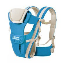 Soft Polyester Baby Carrier Best Child Baby Backpack Cotton belt Blue