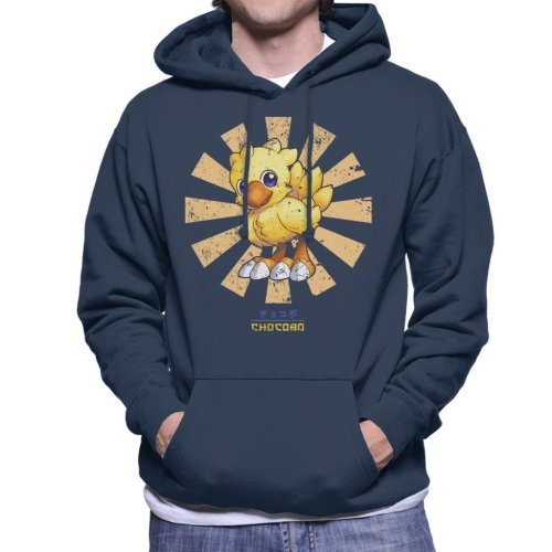 Chocobo Retro Japanese Final Fantasy Men's Hooded Sweatshirt