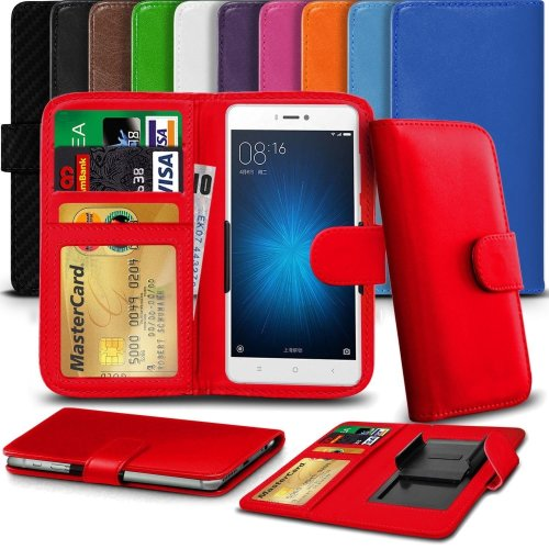 """iTronixs - HTC One M8s (5"""") High Quality Clamp Style PU Leather Wallet Case Cover"""