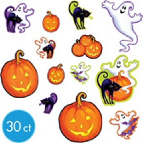 Halloween 30 Piece Part Cutouts - Party Decorations Pack Ghosts ...