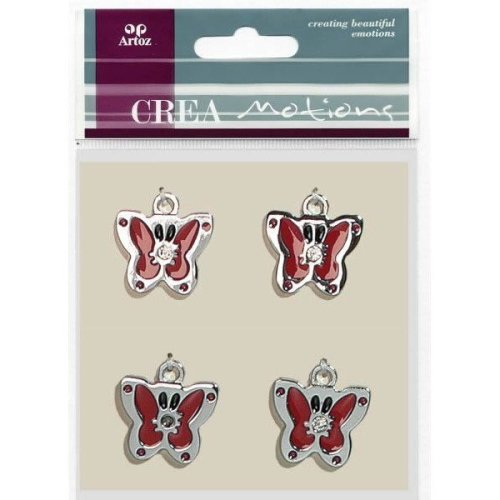 Red Butterfly Charms By Artoz