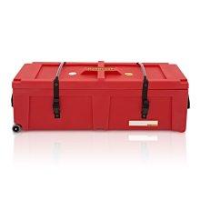 "Hardcase 40"" Hardware Case with Wheels, Red"