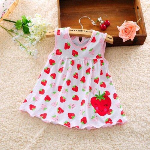 2017 New  Summer Baby Girl Dress Princess 0-1 Year Birthday Infant Girl Dot Newborn Dresses Baby Girls Cutton Clothes