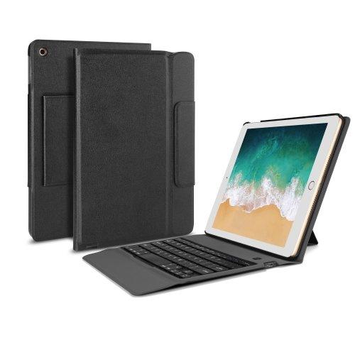 OMOTON iPad 9.7* 2017 Keyboard Case Cover, Bluetooth Keyboard Stand, Black