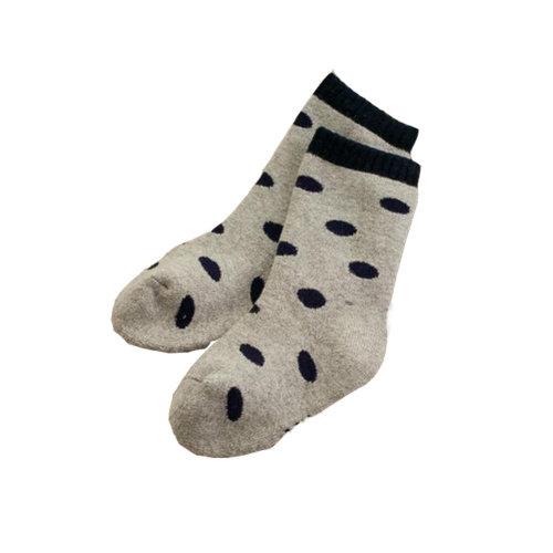 Set of 2 Newborn Thick Warm Cotton Socks 0-24 Months Baby Deep Blue Circle