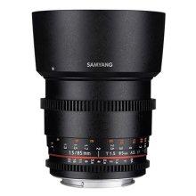 Samyang 85mm T1.5AS IF UMC VDSLR II Lens Black