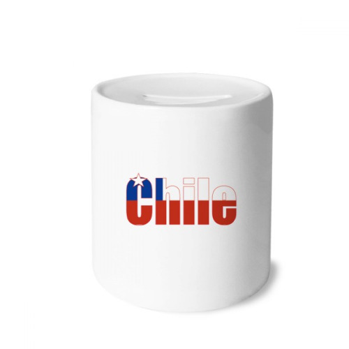 Chile Country Flag Name Money Box Saving Banks Ceramic Coin Case Kids Adults