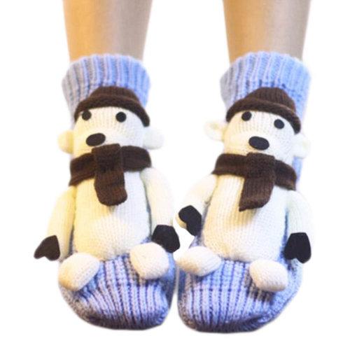 A Pair Non-slip Cute Sleeping Socks Slipper Socks Floor Socks-A13