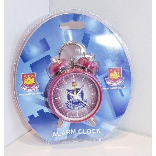 Official West Ham United Alarm Clock - Claret with Crest