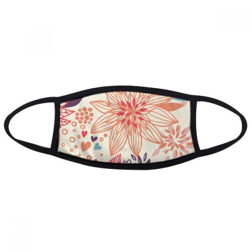 Lotus Flower Plant Paint Mouth Face Anti-dust Mask Anti Cold Warm Washable Cotton Gift