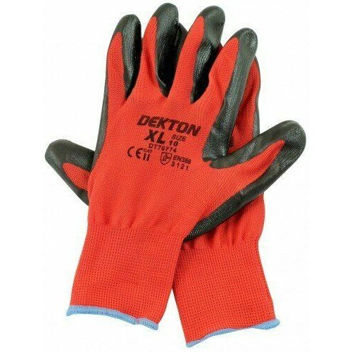 Dexton Ultra Grip Working Gloves Size 10 / XL Nitrile Coated DIY Pro Polyester