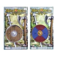 Viking Plastic Sword, Shield & Axe Set - Kids Fancy Dress Sword Warrior Saxon - Kids FANCY DRESS VIKING SWORD SHIELD AXE SET WARRIOR SAXON BOOK WEEK