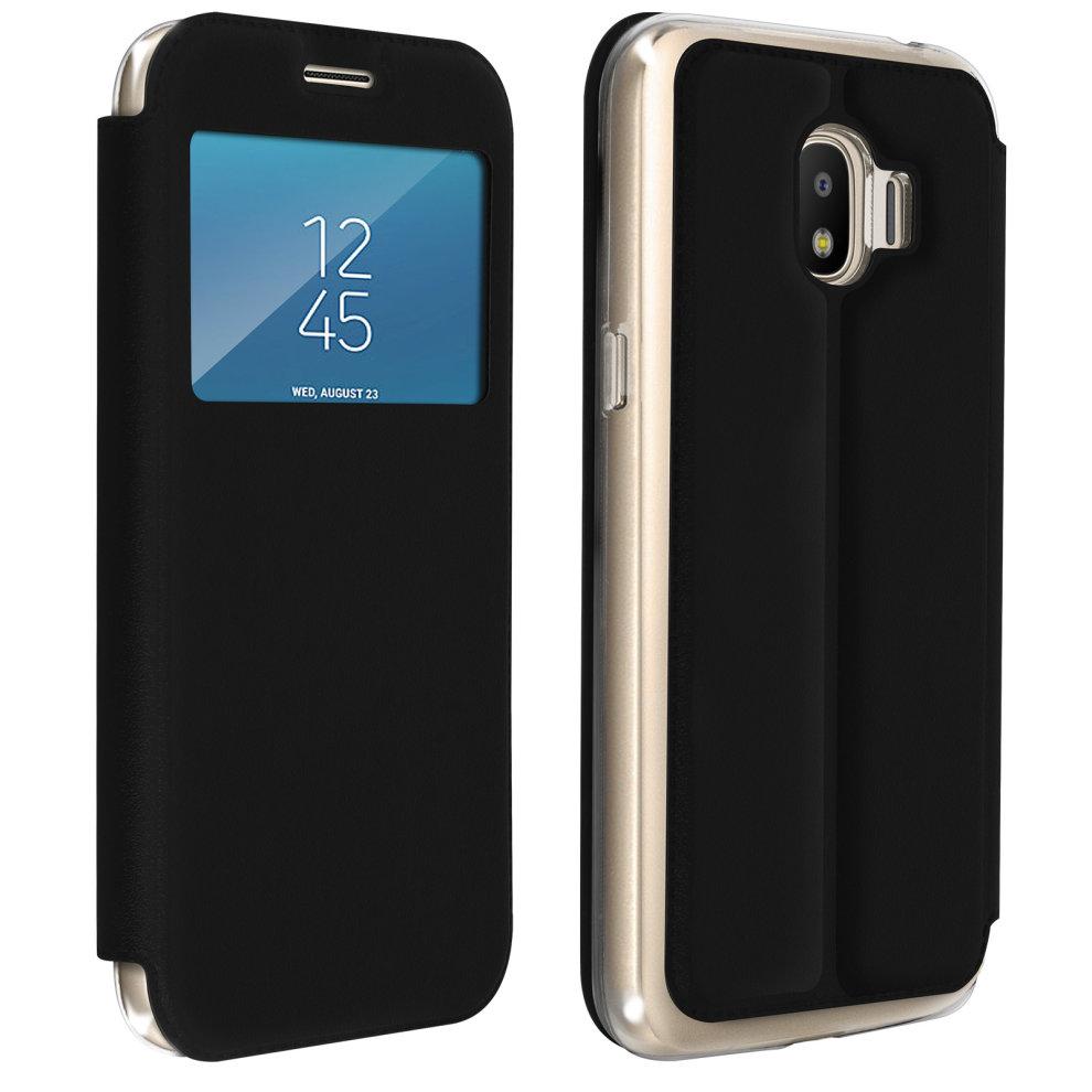 best loved ec208 54d50 Window flip case, flip wallet case with stand for Galaxy Grand Prime Pro -  Black
