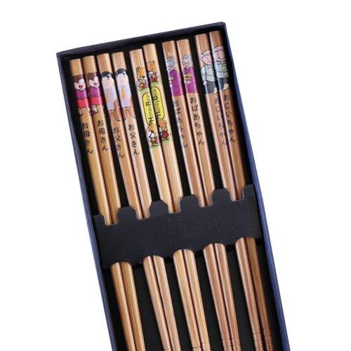 Japanese-Style Reusable Sushi Chopsticks Family Pack Gift Set - Pack of 5