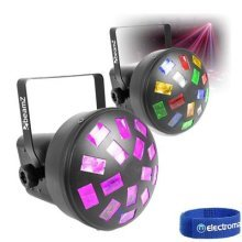Beamz Mini Mushroom Effect RGB+WA Bright LED Light Set DJ Disco Party Lighting
