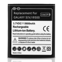 Battery for Samsung Galaxy S4 5600 mAh Replacement Battery + Housing - White