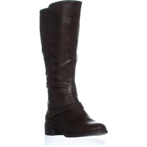 Easy Street Jewel Under the Knee Dual Zip Boots, Brown, 9 UK