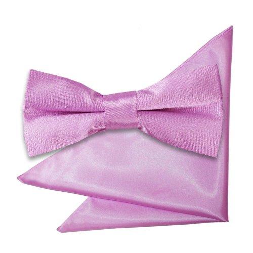 Lilac Plain Satin Bow Tie & Pocket Square Set for Boys