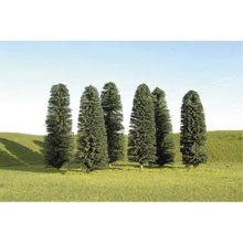 "Bachmann Industries Scene Scapes Trees 4""- 6"" Cedar Trees HO Scale Train (24 Piece)"