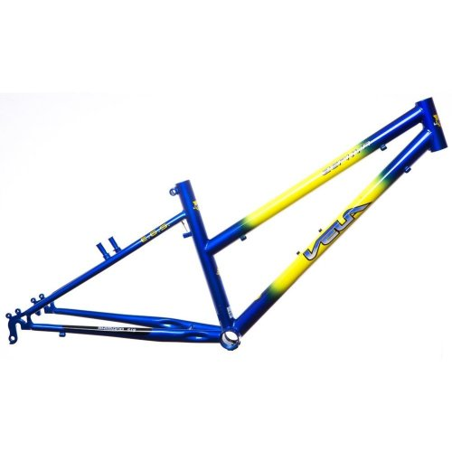 "VELA-ZEPHYR GIRLS 24"" WHEEL KIDS BIKE FRAME 13"" BLUE & YELLOW (Shimano sis)"
