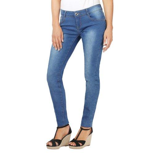 Crushed Leg Basic Skinny Jeans