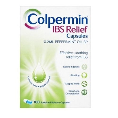 Colpermin IBS Relief 0.2ml Peppermint Oil BP 100 Capsules