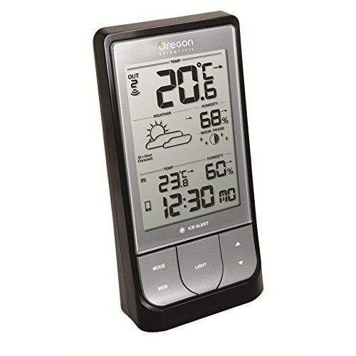 Oregon Scientific BAR218HG Weather@Home Wireless Weather station with Bluetooth Connectivity Black
