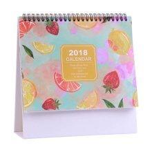 2017-2018 Office Simple Calendar Desk Plan Book Notebook Calendar-Fruit