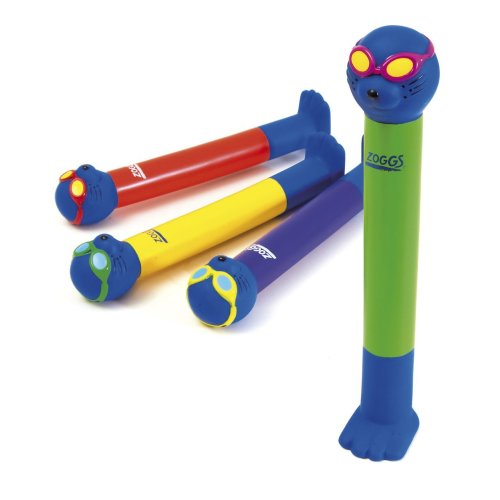 Zoggs Children's Dive Sticks, Fun Swimming Sinking Water Toy/Pool Game - Pack of 4, 3+ Years