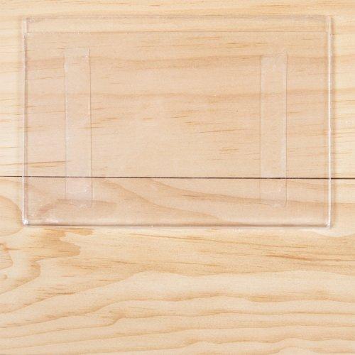 "Craft Decor Wood Pallet W/Acrylic Frame-7""X7""X.75"""