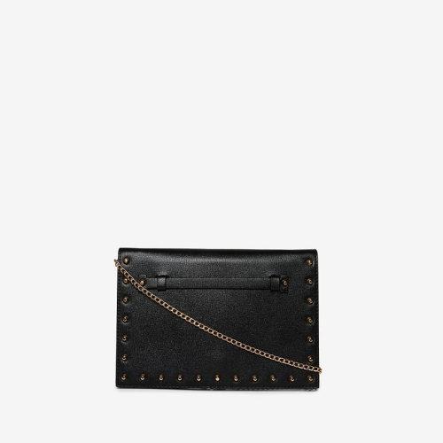 c060c45173 DOROTHY PERKINS BLACK STUDDED CLUTCH BAG on OnBuy