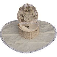 Heart Shaped Fitted Picnic Basket