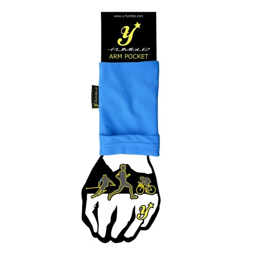 Y-Fumble Sport Arm Band Pocket Blue Large