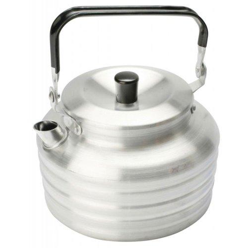 Vango 1.3L Aluminium Kettle with Folding Handle (Silver)