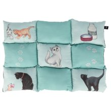 Patchwork Blanket Cat, 70 × 55 Cm, Mint - Trixie Cats Cover New Pet Cushions -  trixie patchwork cats cover mint new pet cushions beds bett kaline