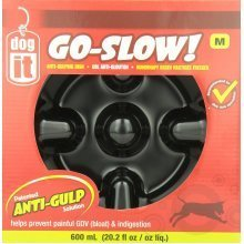 Dogit Go-Slow Anti-Gulp Dog Bowl, Medium, 600 ml