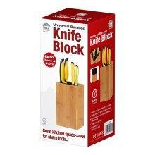 Universal Wooden Kitchen Bamboo Knife Block Rest Rack Stand Storage Organiser