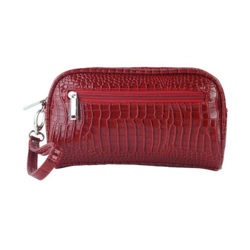 Margarita-Insulated Cosmetics Bags with Removable Wristlet, Red Croc