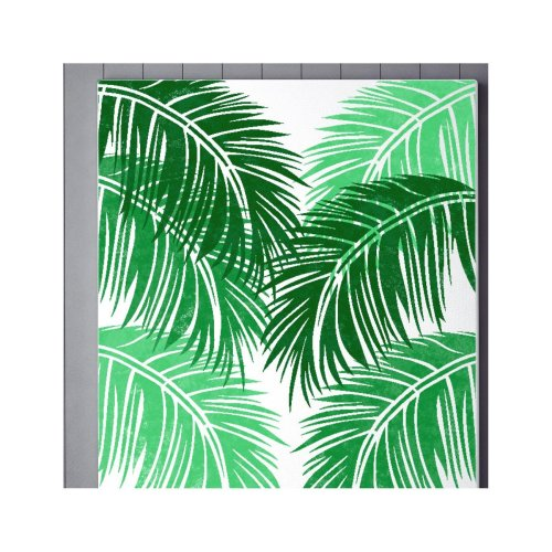 TROPICAL PALM LEAF Furniture Wall Floor Stencil for Painting