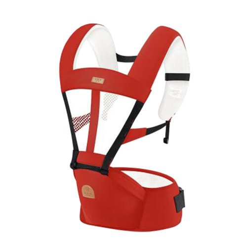 Baby Carrier Double Shoulders Seat Carrier,oxford fabric Baby Carrier Red A