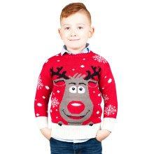 Miss Lulu Kids Boys Girls Thicker Christmas Jumper Deer Knitted Sweater