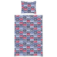 single duvet cover cars red and navy blue - 158880