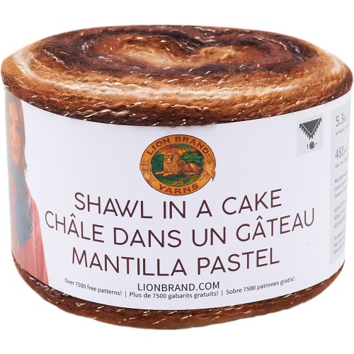 Lion Brand Shawl in a Cake Yarn-Namaste Neutrals - Metallic