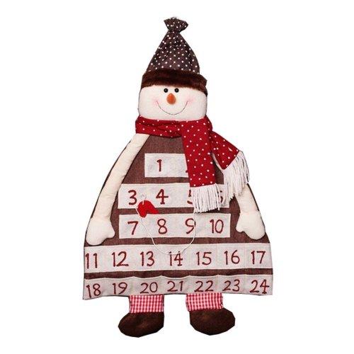 Snowman Christmas Countdown Calendar Environmental Christmas Decorations
