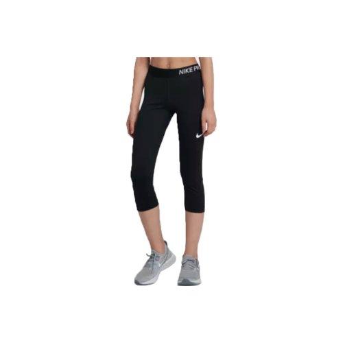 Nike Girl's Pro Capri 3/4 890219-010 Kids Black leggings