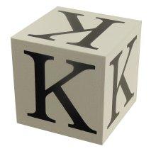 Wooden Block - Letter K