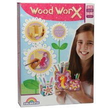 Colorific Wood Worx Stationary Holder Trio Kit - Kids Make Your Own Painting - Colorific Wood Worx Stationary Holder Trio Kids Make Your Own Painting
